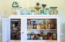 vintage retro keuken ouderwetse blikken