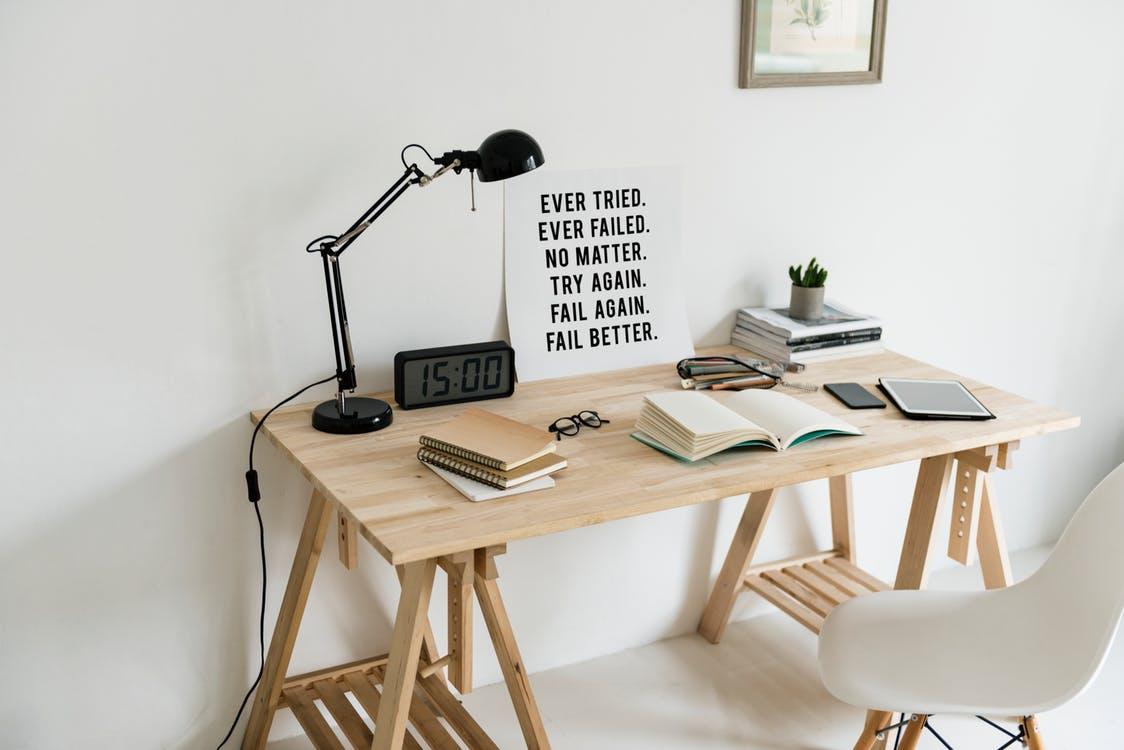 Minimalistische werkplek inspirerend én praktisch