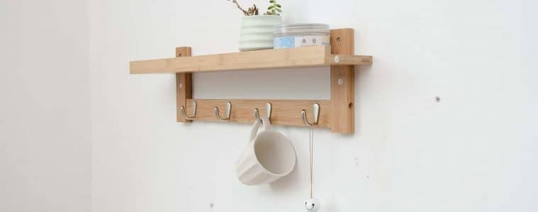 coat rack kapstok diy minimalistisch houten