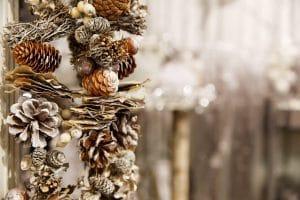 kersttrend natuurlijk botanisch dennenappel