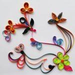 diy bloemen doe het zelf papieren bloemen stroken kunstwerk