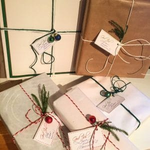kerstboom hergebruiken kerst cadeau inpakken