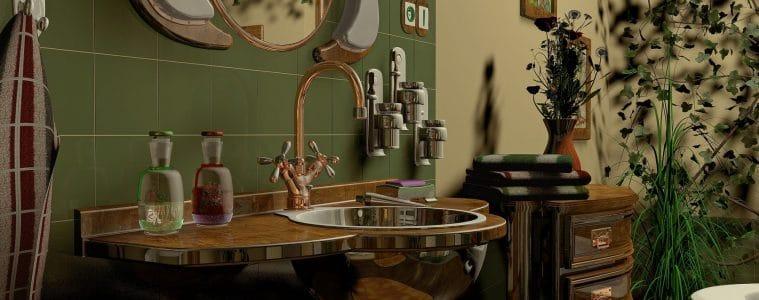 avontuurlijke bohemian badkamer