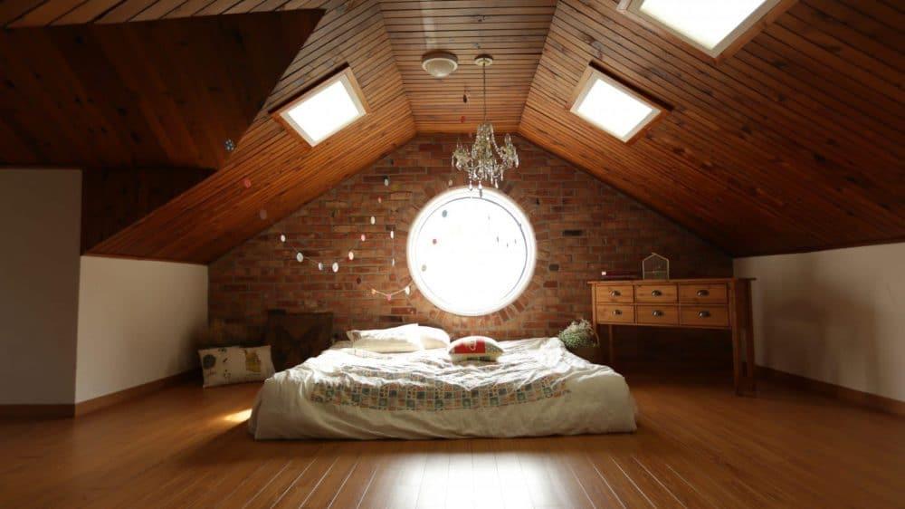 houten vloer in slaapkamer